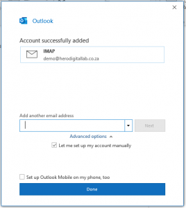how to add a new or additional mailbox in Outlook
